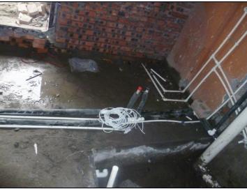 预留主管分水箱和控制线